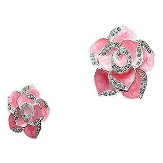 peino Camellia Auto Parfüm Lufterfrischer Clip Diamant Blume Auto Air Vent Parfum Klemme (Pink)