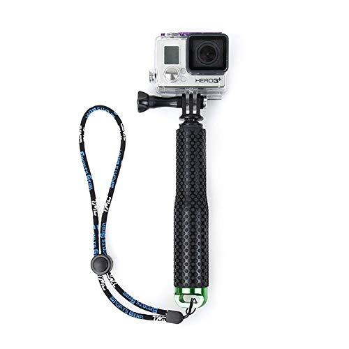 joizo Flotante Impermeable Soporte de la cámara del Mango Extensible Selfie palillo de la aleación de Aluminio Compatible con la cámara Gopro Verde