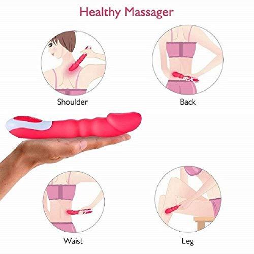 CZL Elektrisches Massagegerät mit automatischem Heizungsvibrator 8 Vibrationsmodus + Medizinisches Silikon USB-Ladegerät Wasserdichter Frauenvibrator (Rosa)