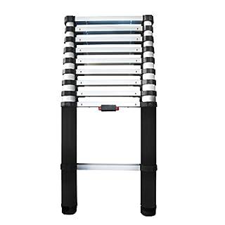Abru 86029 Telescopic Extension Ladder-2.9m, Aluminium