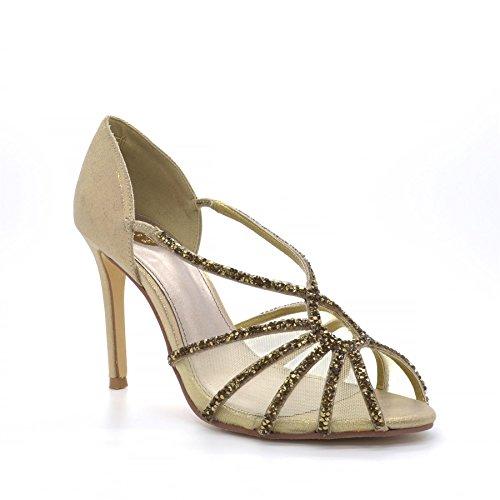 Oro Poze Mujer Tacón Aurelia Zapatos Fatw7 De Colección Alto K35l1ucTFJ