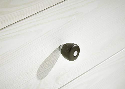 Peter ANLL711022 Highboard Sideboard Kommode Schrank Anrichte Mehrzweckschrank, Holz, weiß, 40.0 x 178.0 x 130.0 cm - 4
