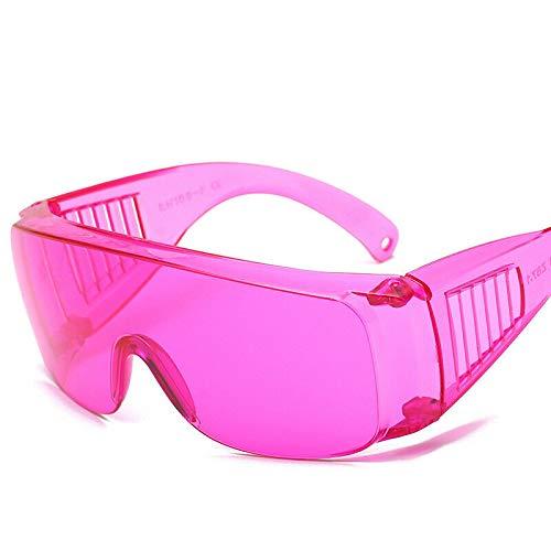 Senrise Schutzbrille für Labor, stoß- und ballistische resistente Schutzbrille mit transparenten Gläsern in verschiedenen Farben (variiert), rosa