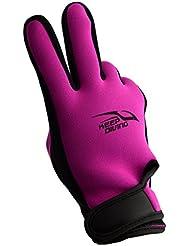QHGstore Guantes de neopreno de primera calidad para adultos de 3 mm antideslizantes guantes Snorkel surf natación naranja M