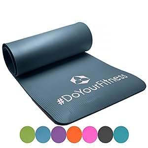 #DoYourFitness Fitnessmatte Yogini ideal für Pilates Gymnastik und Yoga Maße: 183 x 61 x 1.0 cm grau, 122566226