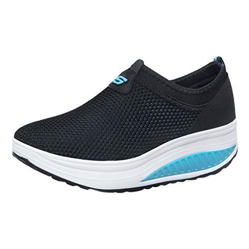 check out e272a 38713 Sunnywill Moda Donna Slip On Sport Traspirante Piattaforma da Corsa Shake  Gym Sport Athletic Jogging Shoes