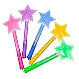 Happyyami 5pcs LED bagliori a Stella Bastoncini Lampeggianti Accendono Giocattoli Accendono bomboniere per Feste di Compleanno di Compleanno di concerti (Colore Casuale)