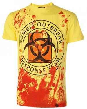 Darkside - Zombie Outbreak Response Team T-Shirt, gelb, Grösse M - Herren Response Team T-shirt