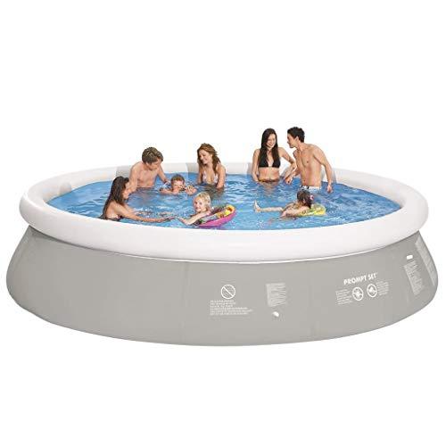 Jilong Runder Aufblasbarer Swimming Pool Grau 450 x 122 cm
