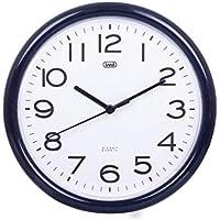 Trevi OM 3301 Orologio da Muro al Quarzo con Movimento Silenzioso Sweep, Diametro 24 cm, Nero, plastica, rotonda