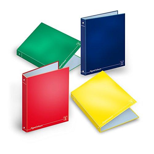 Pigna colours 021364530, raccoglitore cartonato ad anelli, formato a4, 27 x 32 cm, pacco da 5 pezzi