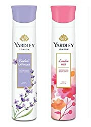 Yardley London Deodorant For Women English Lavender and Mist Combo Pack 2 (150 ml)