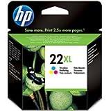 Original HP 22Xl C9352C Tintenpatrone Dreifarbig cyan, magenta, gelb Deskjet / PSC/ Photosmart/ Officejet druken -(Frustfreie Verpackung) - Folie verschweißt Tinte