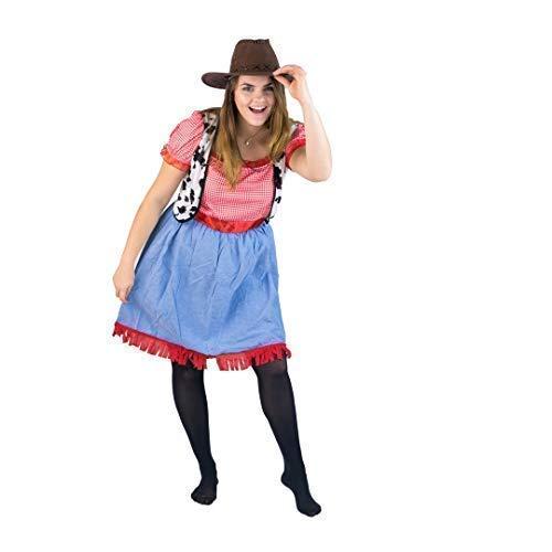 Bodysock® Cowgirl-Kostüm für Damen (Weibliche Sheriff Kostüm)