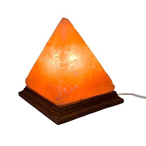 Lampara de Sal del Himalaya -Piramide(3.5KG) Color Naranja, Decoraciones,Regalos de Cumpleaños, Año Nuevo y Aniversario