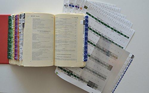 Steinfacher Griffregister fürs Steuerrecht -GESAMTPAKET mit amtlichen Überschriften, 1.900 Aufkleber inkl. 750 Folien & 2 Einklebeschablonen
