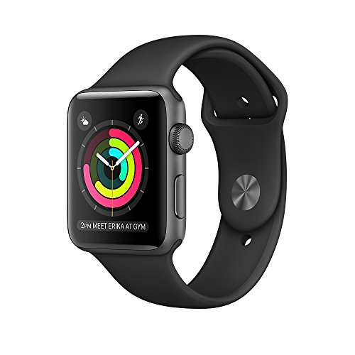 Apple Watch Series 2 42mm Smart Watch (Space Grey Case, Black Sport...