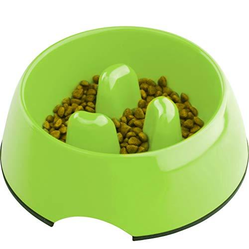 SuperDesign Hundenapf Anti Schling, rutschfest Fressnapf zur Langsameren Nahrungsaufnahme, Futternapf für Hunde und Katzen, Entlastet die Verdauung, aus Melamin -
