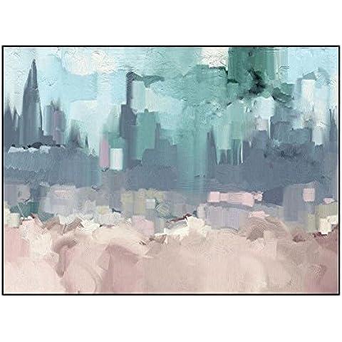 YYH Versión Horizontal minimalista moderno pinturas al óleo 100% a mano pintados decoración contemporáneo abstracto pinturas casa pintura de la lona ,