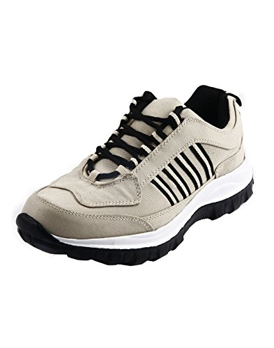 Corpus Men's Density Beige Color Leather Running Shoes-7  available at amazon for Rs.495