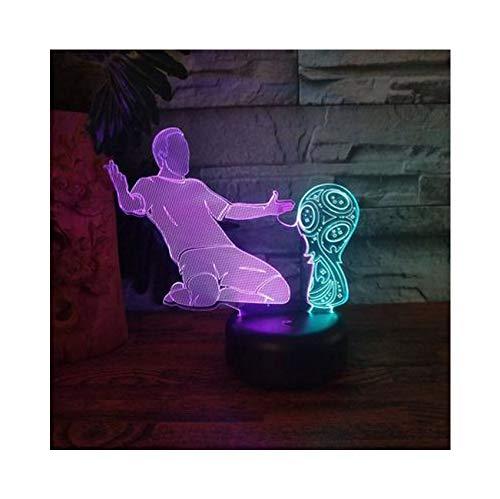 Nachtlicht Touch-schalter Fußballspieler Nachtlicht College Wohnheim Dekorationen Led Lichter 7 Farbwechsel Tischlampe Dekor