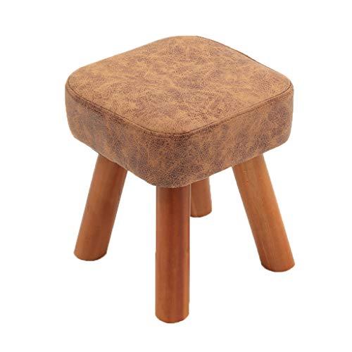 CJH Personality Hocker aus massivem Holz, quadratisch, für Zuhause, einfaches Wechseln von Schuhen, Holz, 28 * 28 * 32cm