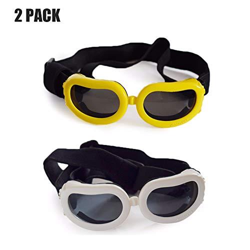 Pet Brille & Doggie Sonnenbrillen, Big Dog Eye Wear Schutz/Anti-Fog/UV Schutz/Windproof Pet Motorrad Sonnenbrille,C