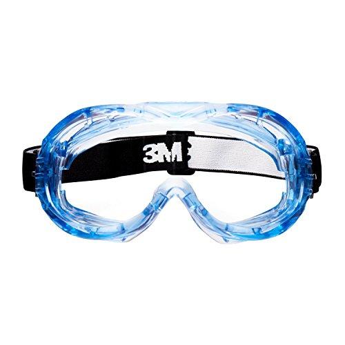 3M Fahrenheit Occhiali a mascherina, ventilazione indiretta, lente trasparente in PC (DX), banda in nylon, 71360-00011M