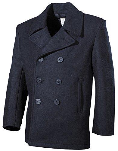Pea Coat - Marine Mantel navy blau S-XXL XXL (Pea Für Damen Coat)