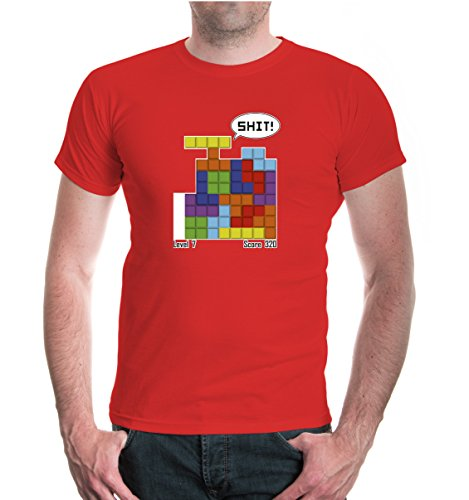 buXsbaum® T-Shirt Steinpuzzle Red-z-direct