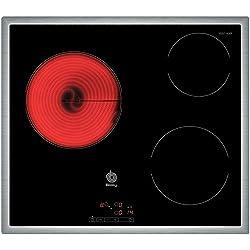 Balay 3EB714XR Placa vitrocerámica, 2000 W, Vidrio y cerámica, Negro
