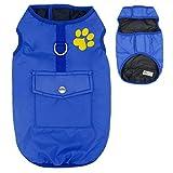 EULSV Winter Hund Haustiere Kleidung Kleidung Für Kleine Große Hunde Wasserdichte Haustier Weste Jacke Mantel Chihuahua Mops Blue XS