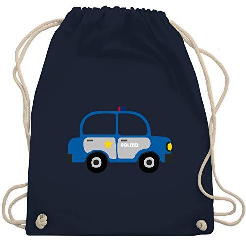 Shirtracer Fahrzeuge Kind - Polizei Auto - Unisize - Navy Blau - WM110 - Turnbeutel und Stoffbeutel aus Bio-Baumwolle