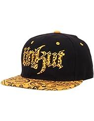 Tongshi Algodón bordado gorra de béisbol del Snapback Niños Niñas Hip Hop sombrero plano (Amarillo)