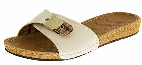 De Fonseca Wellness Donna sintetico sandali aperti Vernice Bianca