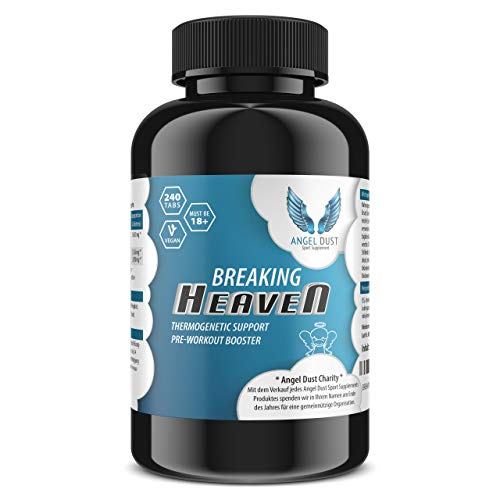 BREAKING HEAVEN - Thermogenetic F-Burner & Pre-Workout - 240 Tabletten Vegan & Hochdosiert - Abnehmen + Appetithemmer + Fettverbrenner - EINFÜHRUNGSPREIS - Citrus Aurantium + Piperin - Made in DE