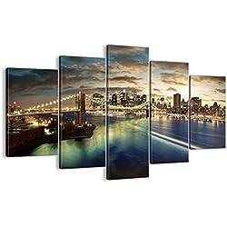 Bild auf Leinwand - Leinwandbilder - fünf Teile - Breite: 150cm, Höhe: 100cm - Bildnummer 0226 - fünfteilig - mehrteilig - zum Aufhängen bereit - Bilder - Kunstdruck - EA150x100-0226