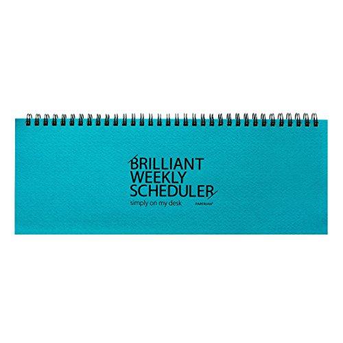 Paperian Brilliant Weekly Scheduler Wirebound Undated Weekly Planner Pad Scheduler (Blue) Magnetische Organisatoren