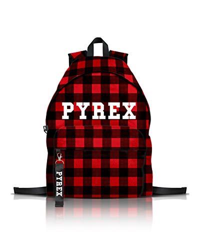 Zaino scozzese pyrex (rosso/nero)