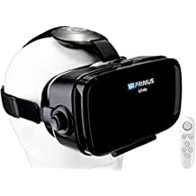 Gafas VR VR-PRIMUS VA4s + mando   Para smartphone 's p.ej. iPhone,Samsung Galaxy,HTC,Sony,LG,Huawei   Ajustable,Google Cardboard QR,Botón de control   VR box,glasses,móvil,controlador   negro