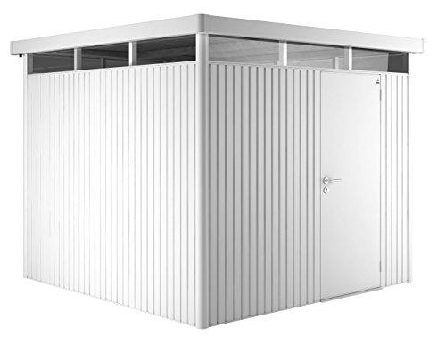 Biohort Highline H4 mit Standardtüre weiß, 275x275cm, Geräteschrank, Gartenhaus, Gerätehaus von...