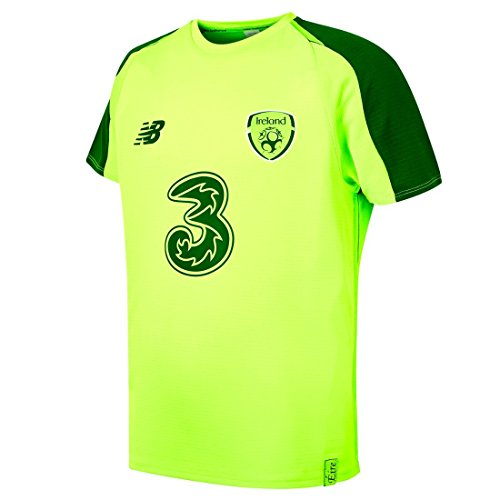Carrolls Irish Gifts FAI New Balance Ireland Elite Training Jersey Light Green