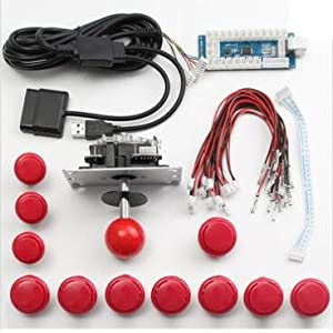 GOZAR Arcade DIY Ersatzteil Set Kits USB Encoder Joystick Push-Buttons Für Windows Für Ps3 Für Die Ps4 Android System…