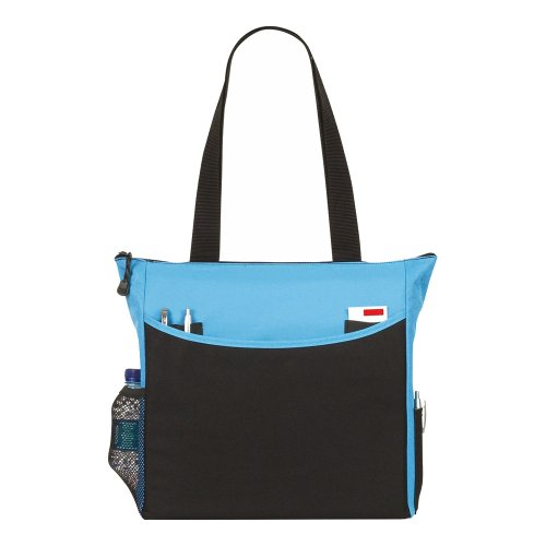 Tote Shopping & scuola / sacchetto di college Turchese