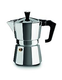Ghidini Ss Coffee Maker 6 Cups Boxed, 16 x 11 x 22 Cm, Silver
