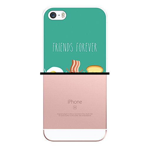 iPhone SE iPhone 5 5S Hülle, WoowCase Handyhülle Silikon für [ iPhone SE iPhone 5 5S ] Friends Forever- Wein und Käse Handytasche Handy Cover Case Schutzhülle Flexible TPU - Transparent Housse Gel iPhone SE iPhone 5 5S Transparent D0217