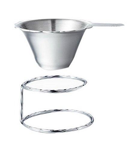 Accessoire de thé en Acier Inoxydable Bord du Filtre à thé de Bord + Base de Ressort de Feuille
