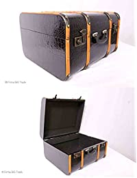 "Vintage Koffer Oldtimerkoffer Kinderkoffer Blau Holzleisten 4 Größen /""M/"" Antique"