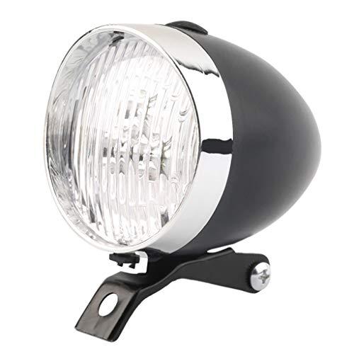 Marico Nahum Helle 3 LED Klassische Coole Silber/Schwarz Radfahren Fahrrad Scheinwerfer Retro Front Vintage Bike Licht Nachtfahrten Sicherheit Nebelscheinwerfer Scheinwerfer mit Halterung