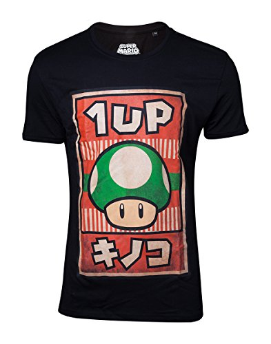 Super Mario Bros 1UP Mushroom Poster Men's T-Shirt